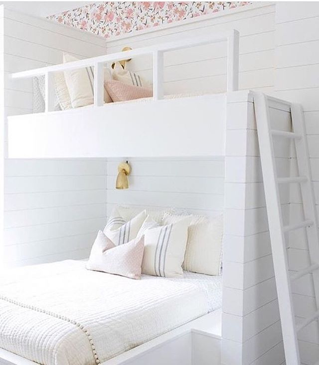 When I show homes, buyers with children often comment on the size of the secondary bedrooms, saying they're too small. Installing cute bunk beds like this could remove the concern about the size of a room, don't you think?  Photo source: @smpliving