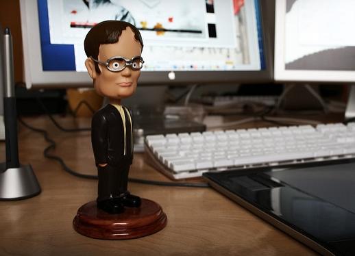 Dwight Schrute, role confusion, bobblehead