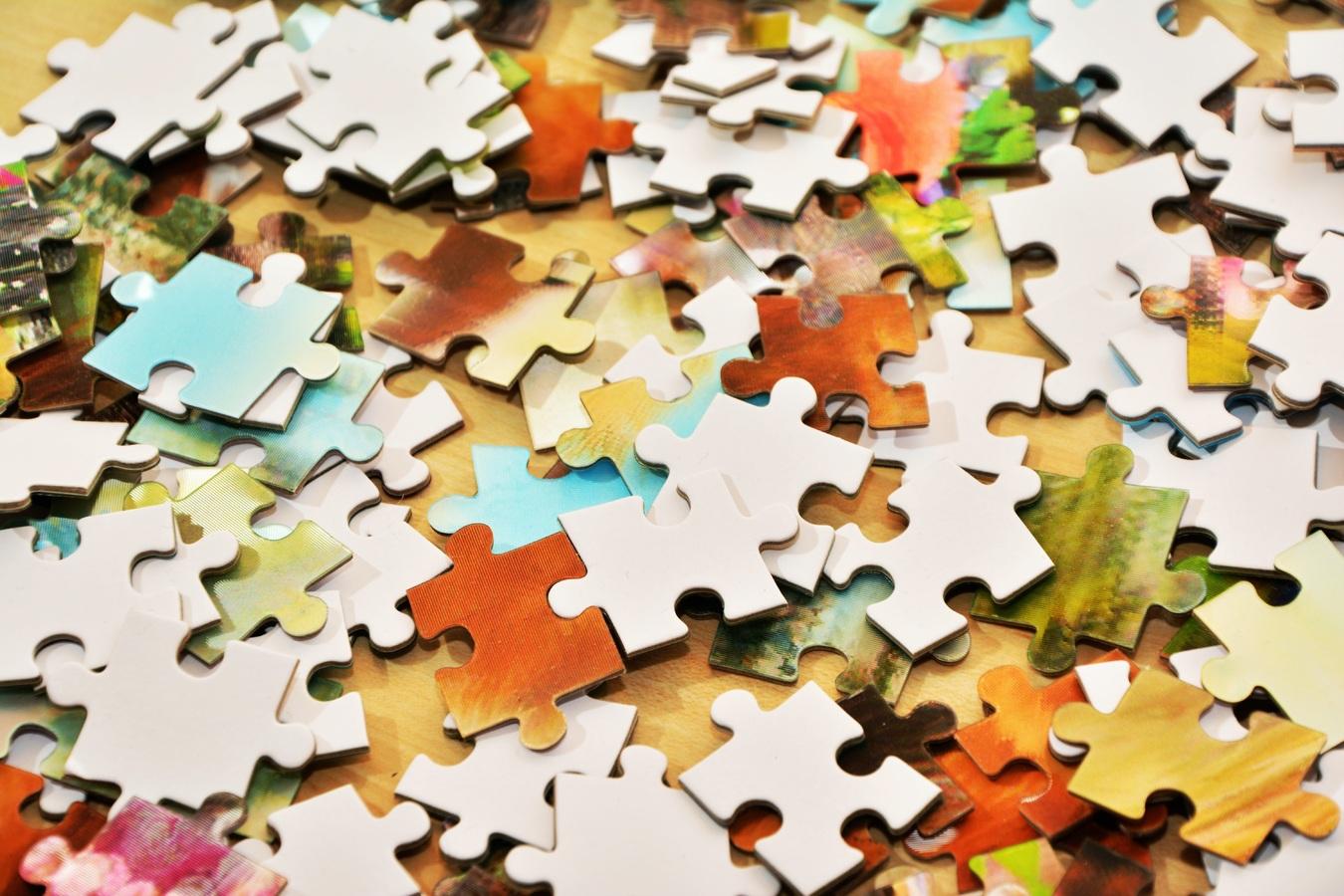 Dumped Out Puzzle Pieces