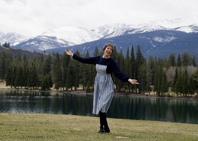 """   The Hills Are Alive With The Sound of Music. Tracey Bell impersonates Julie Andrews   "" by    Tracey Bell    is licensed under CC BY 2.0"