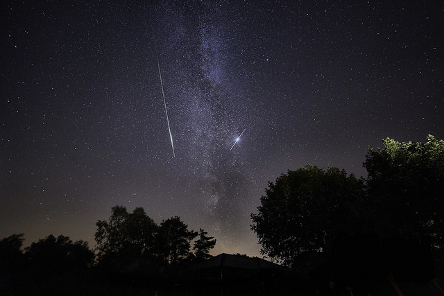 Milky Way and Perseid Meteor shower above Sutton Bank (c) Russ Norman Photography_NYMNP