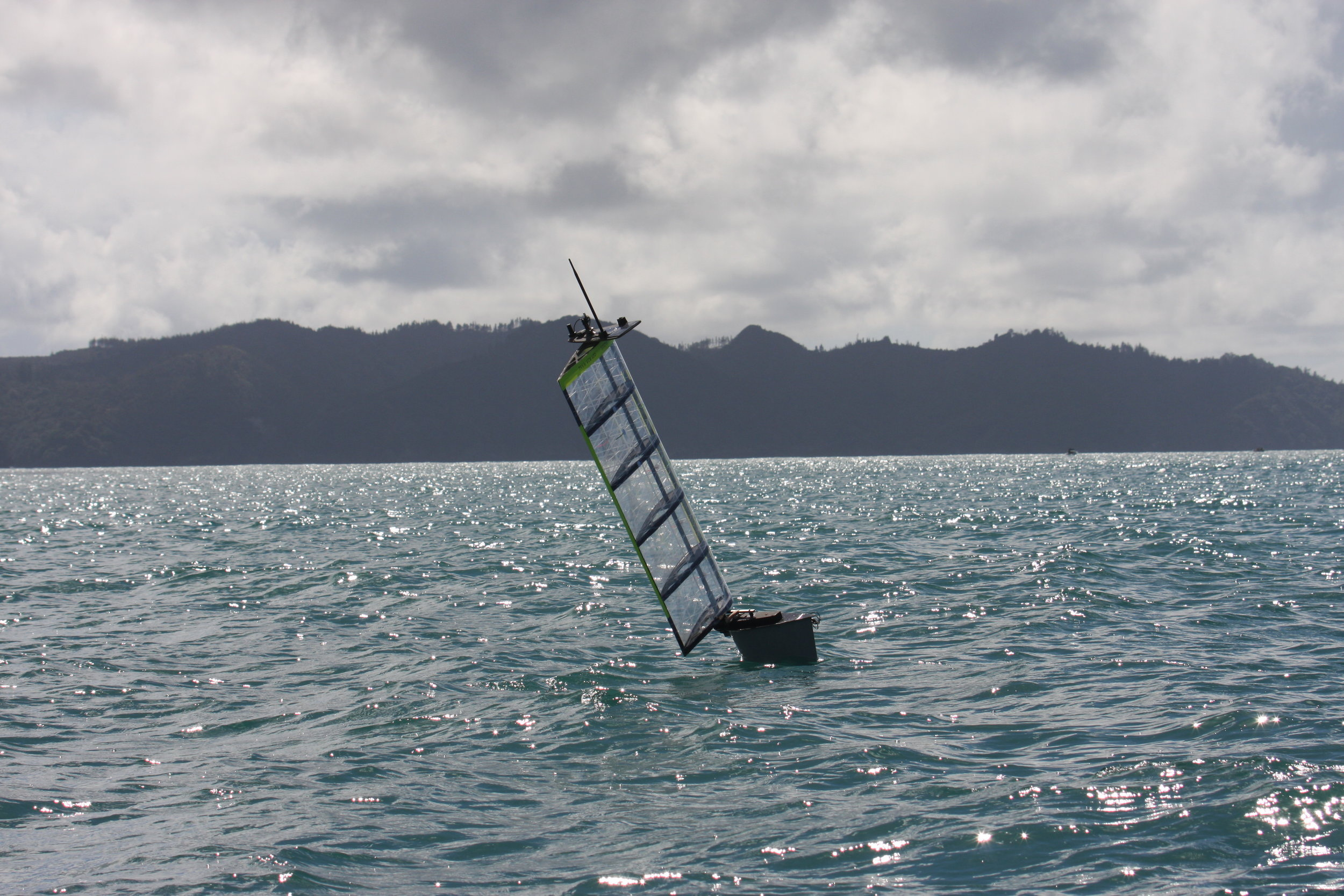 Ocean testing off NZ - 24 hour autonomous waypoint sailing off the south island of New Zealand