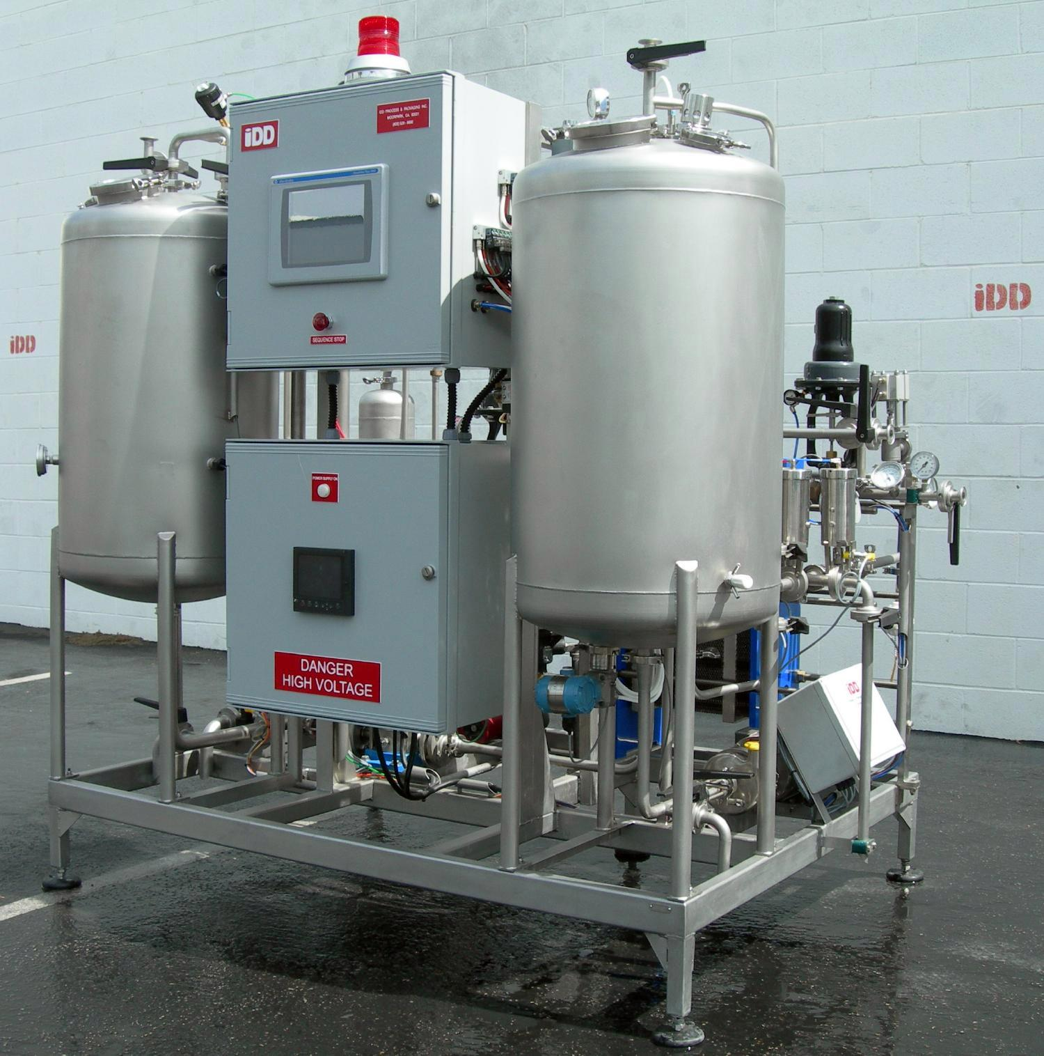 FP1 - Up to 15 hL/hrOur base model of flash pasteurizer is perfectly sized for most small to intermediate packagers.