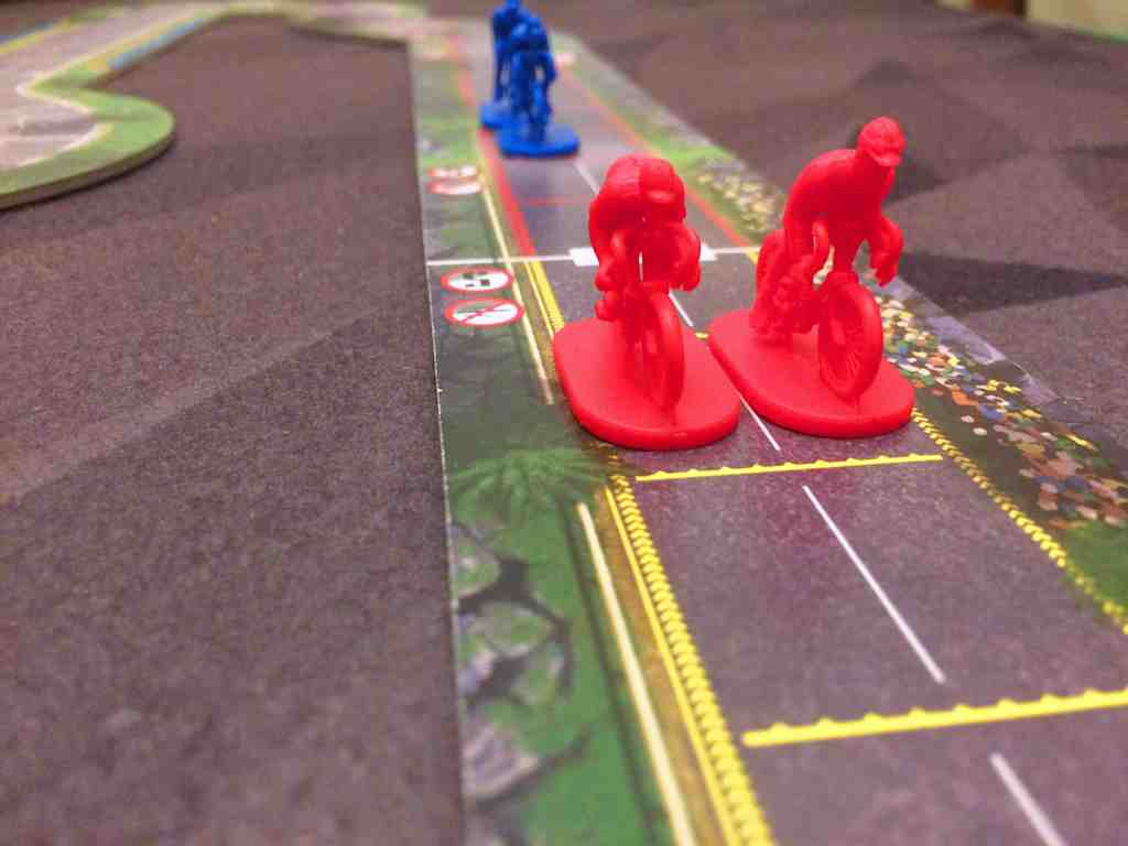Red team crosses the finish line for the win in two-player!