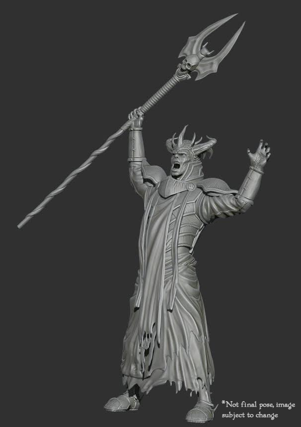 Necromancer Miniature 3d Sculpt