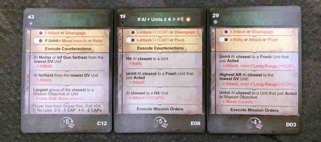 Solo Order Cards