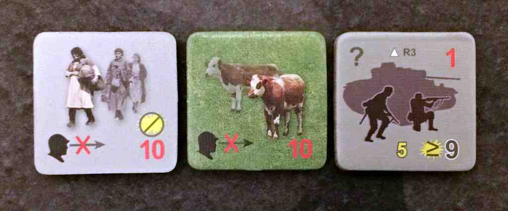 Eastern Front Solo Counters, yes cows and civilian refugees can show up in the middle of a firefight