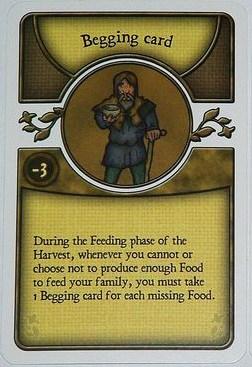 The dreaded begging card, harbinger of loss