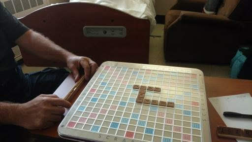 7. Scrabble - As the hours approached my mothers inevitable passing all of my family was in her room. We found the family Scrabble game in the closet and played a game.