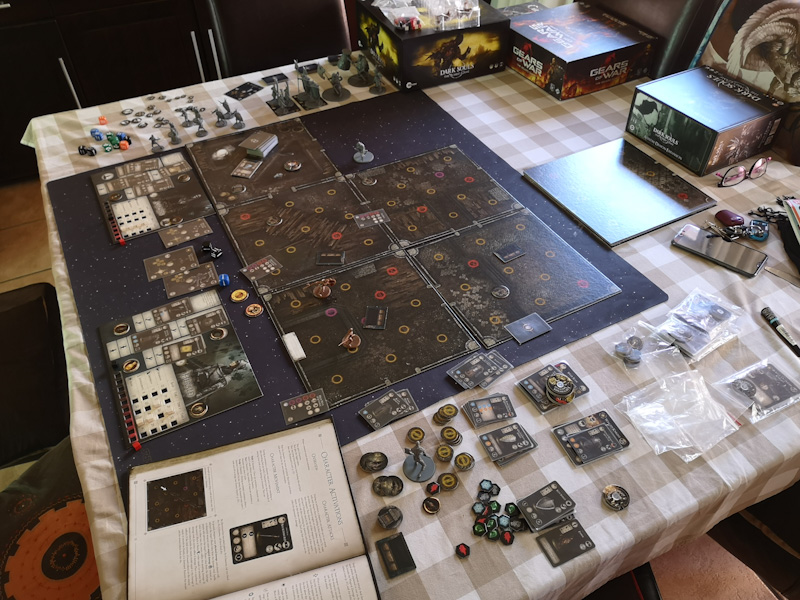 Dark Souls The Board Game is a table hog.