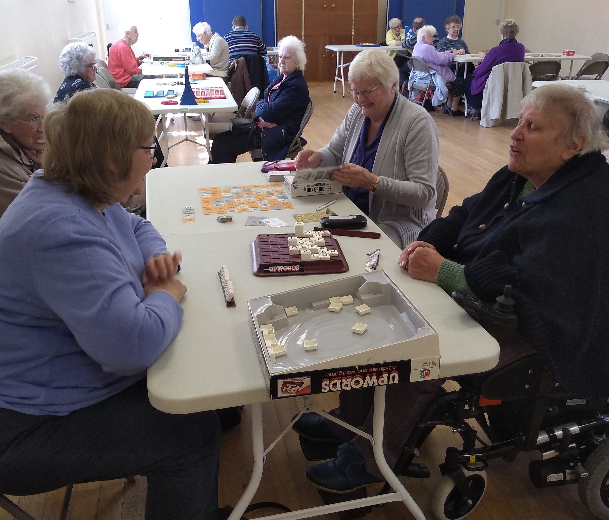 Photo from a senior citizens social group earlier in the year.