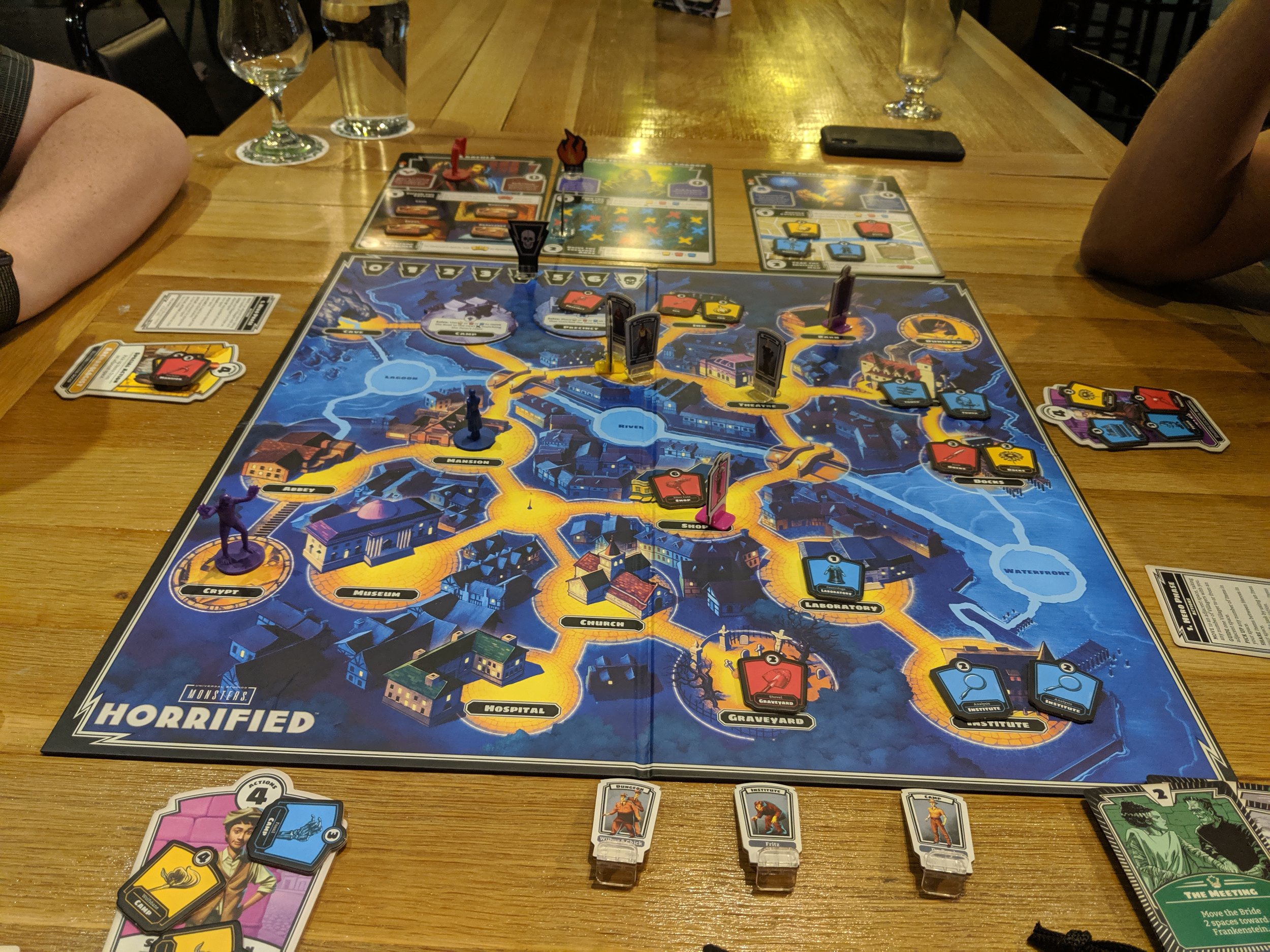 A three player game in process