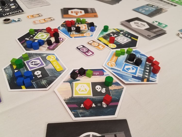 An early prototype of Sovereign Skies from Origins 2017.
