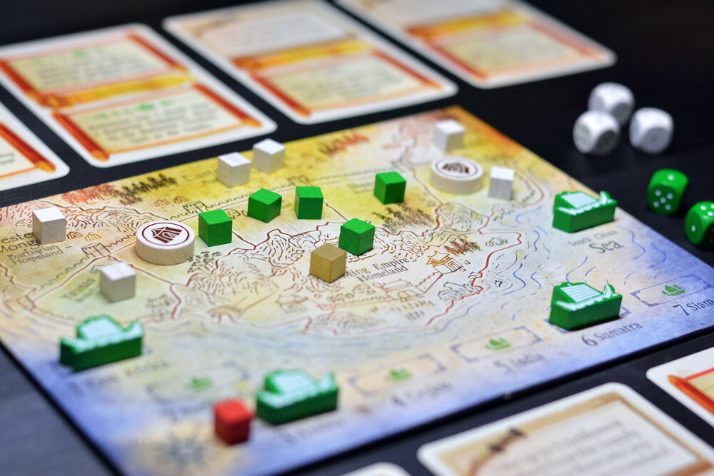The Ming Voyages is indeed a very pretty game when presented on the gaming table. Photo: Fredrik Schulz