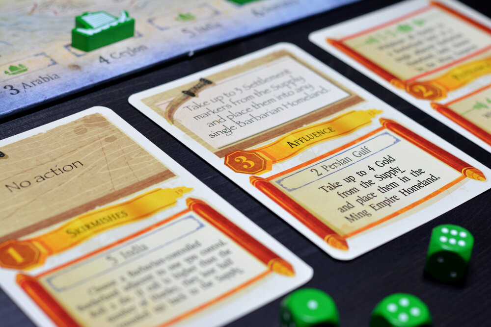 Similar to The Cousins' War, The Ming Voyages features multi-function cards. Photo: Fredrik Schulz
