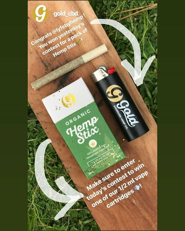 Thank you @gold_cbd !! We Can't wait for our pack of CBD Hemp Stix to come in ! These Pre-Rolled Hemp Stix are great ! 10pc , 35mg each, with filters,  definitely #goldstandard for hemp flower products ! Check them out and enter to win their giveway contest for more cbd goodies, including CBD Vape & Honey! Also available at @thehempstorenc in Raleigh & Wake Forest! ••• #hemphealthy #hemp #cbd #goldstandard #hempstix #cbdoobies #cbd #cannabidiol #cannabis #hemp #hemprolls #hempflower #cannabiacommunity #cannabisculture