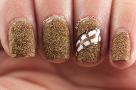 Chewbacca Nails by Every Little Polish