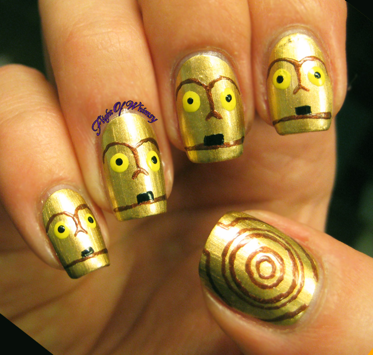 C3PO nails by Flight of Whimsy