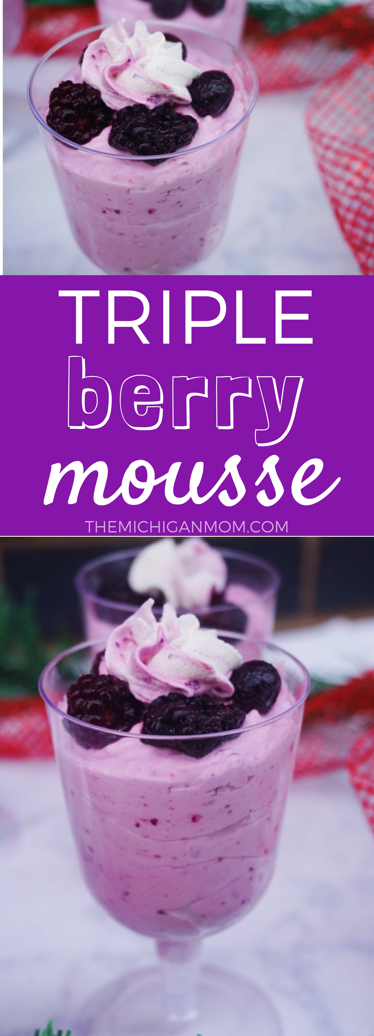 triple berry mousse recipe