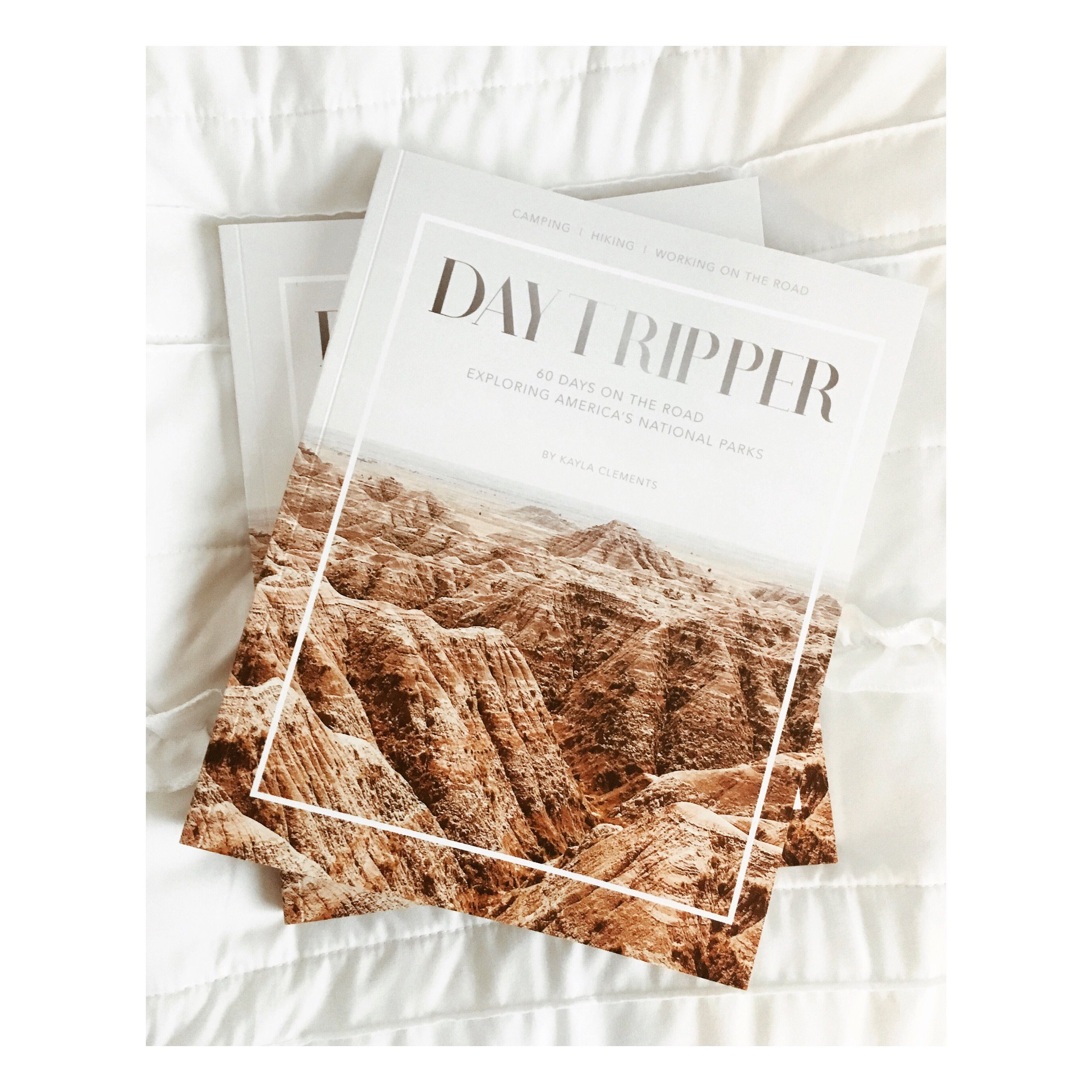 The first printed proof of   Daytripper: 60 Days on the Road Exploring America's National Parks