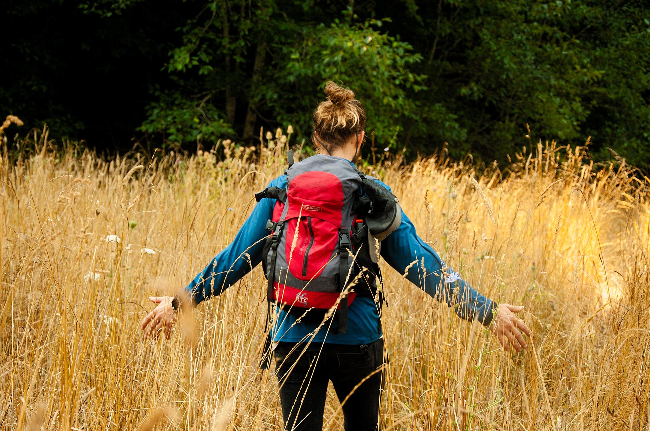 George hiking in Redwood National Park, CA