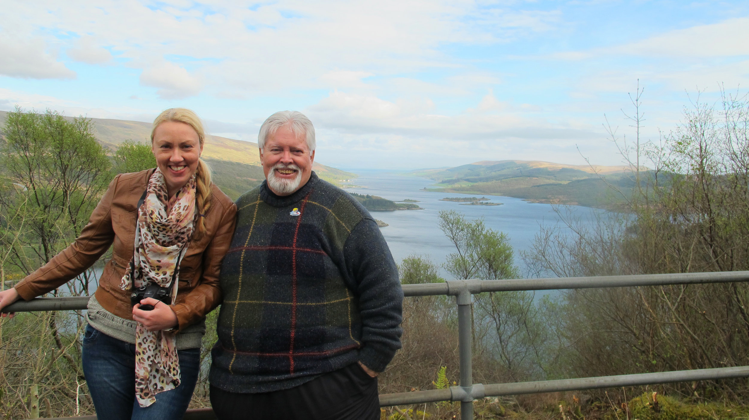 """Susanne Arbuckle spent her day off showing me around her home, the Isle of Bute. When I first arrived in Scotland, she greeted me with a tweet I'll never forget... """"Tonight there's a new Glen in Scoland."""""""