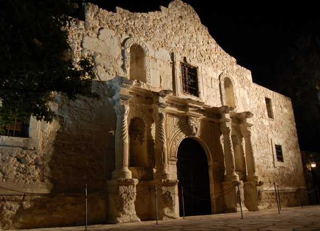 The facade of the chapel is the best known image of The Alamo, but at the time of the battle other outbuildings and a courtyard were present.