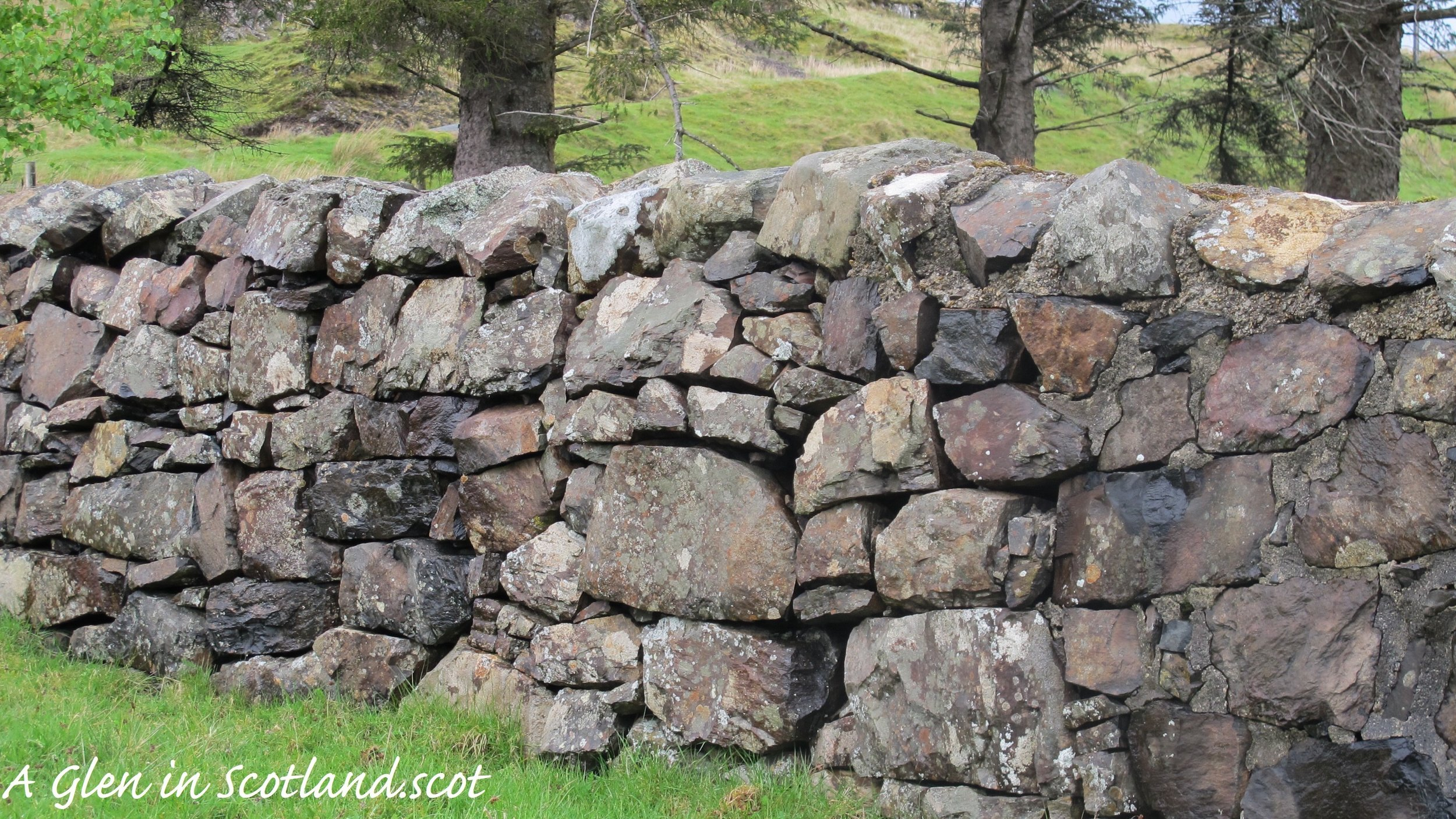 Stone wall, Isle of Skye