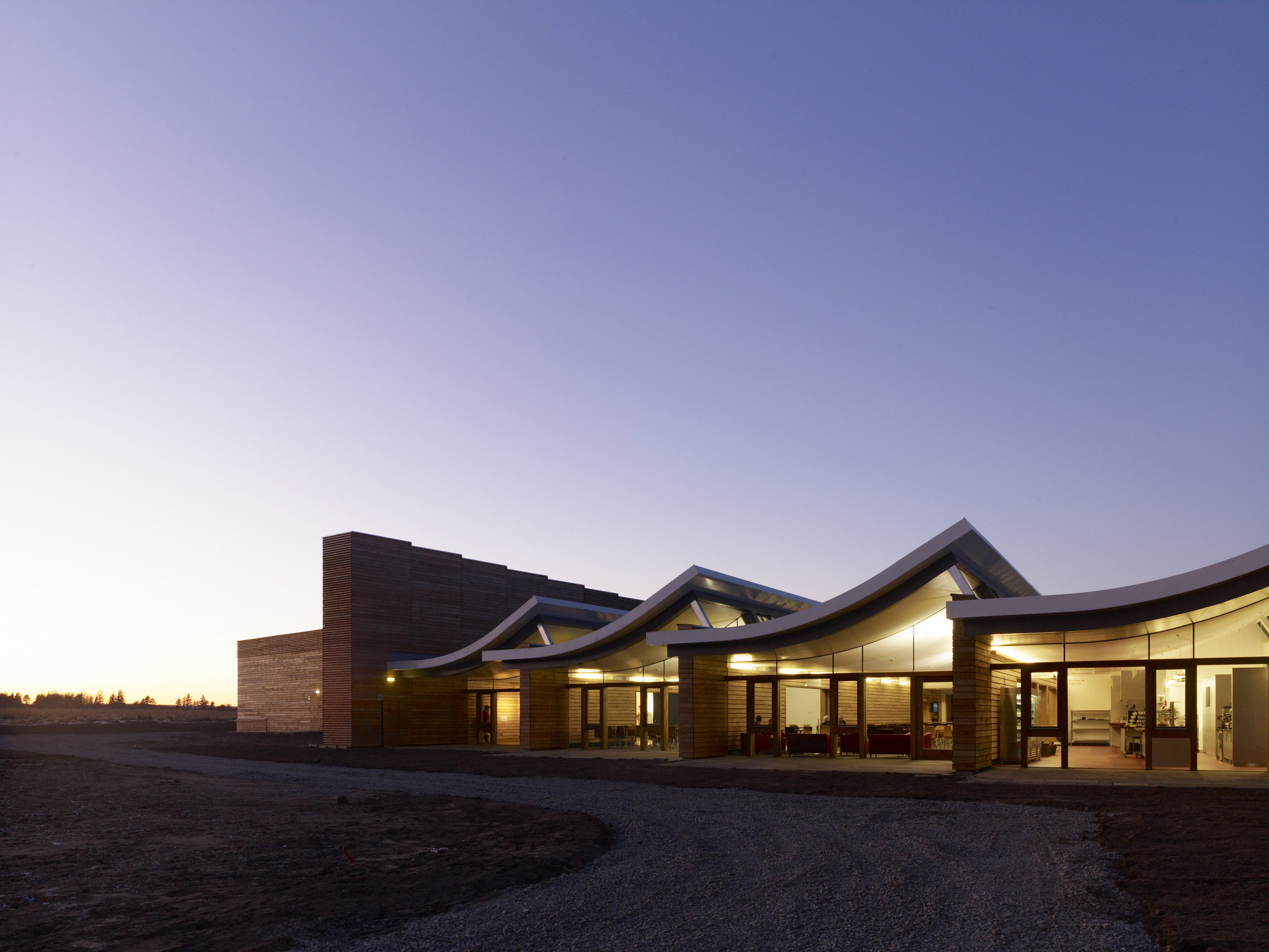 The NTS Culloden Visitor Center. Photo courtesy National Trust for Scotland, Culloden
