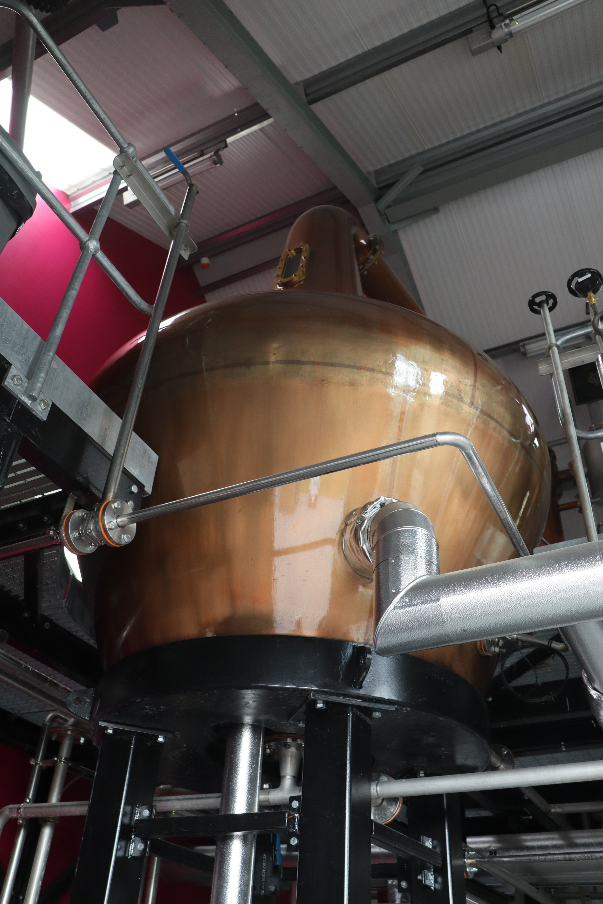 One of the two copper pot stills at GlenWyvis.