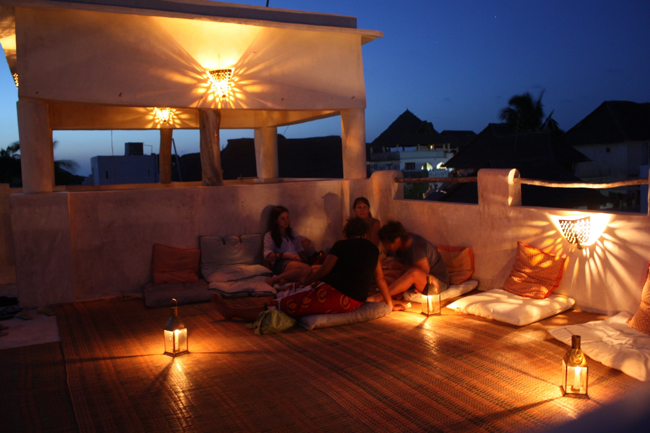 Design Inspiration for Chic Chateau's indoor-outdoor living from the Island of Lamu, Kenya
