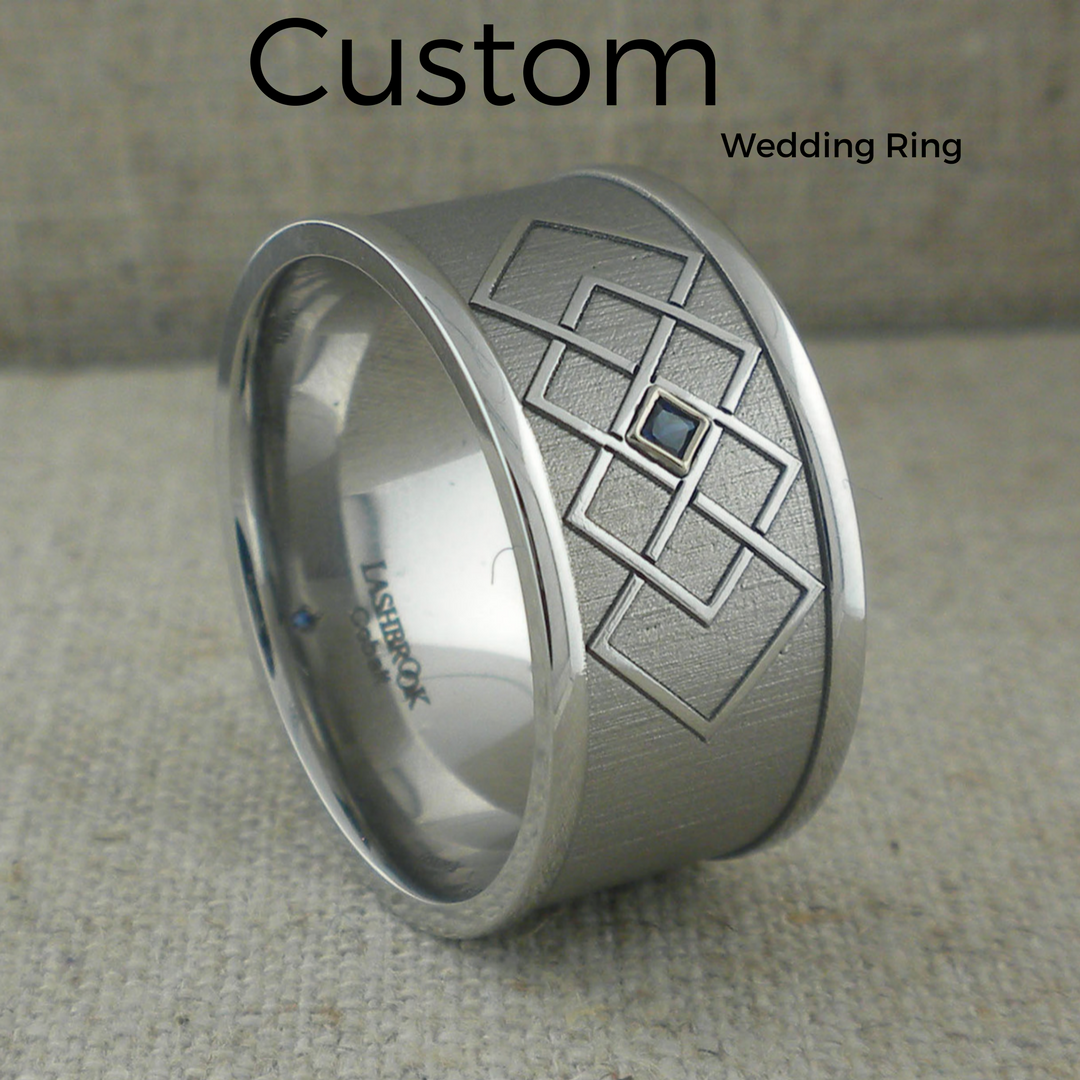 Custom Sapphire Wedding Ring