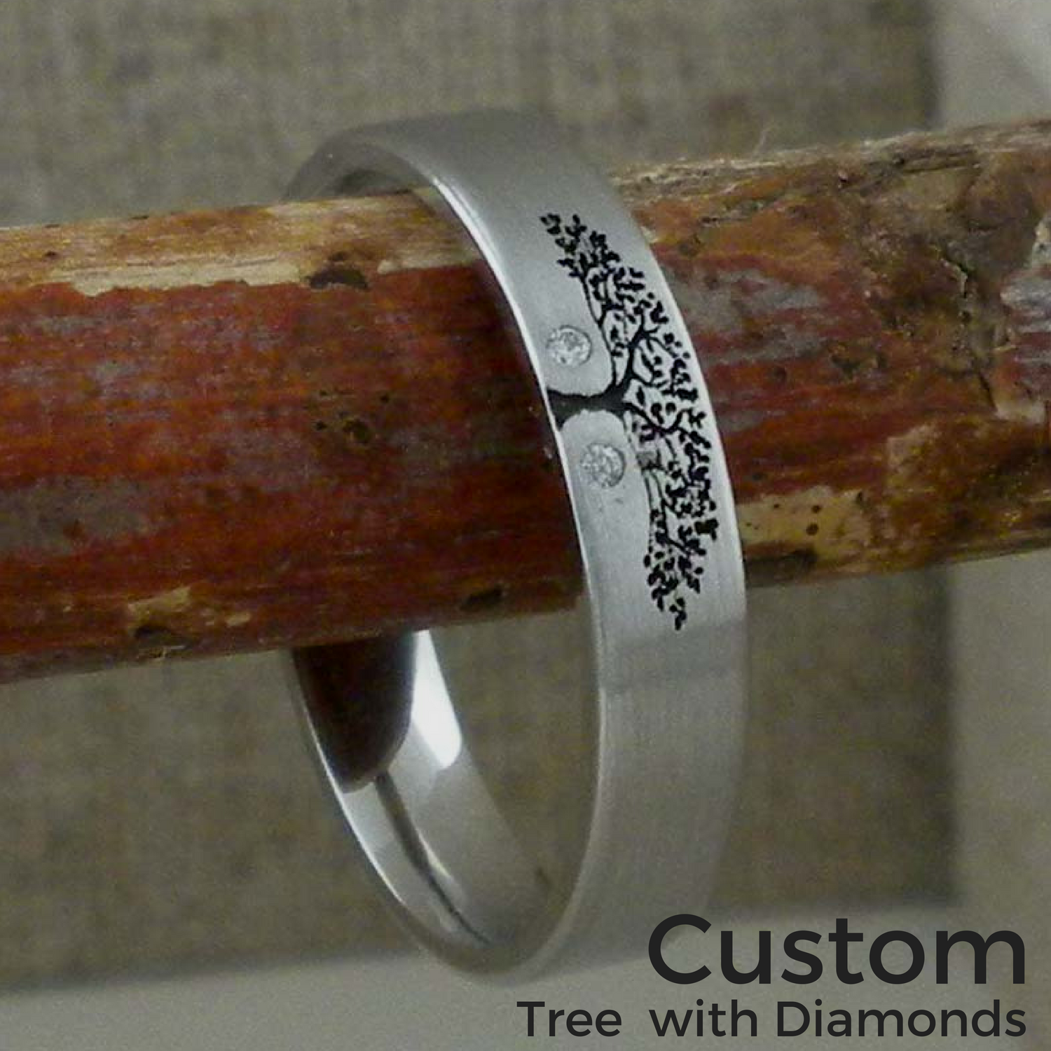 Custom Tree Wedding Ring