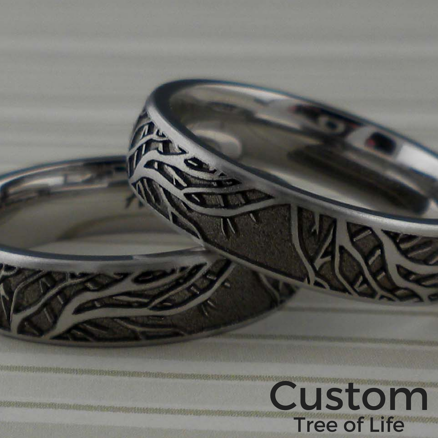 Custom Branches Wedding Ring