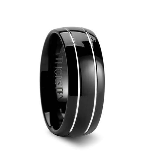 Thorsten Eclipse Black Tungsten Wedding Ring
