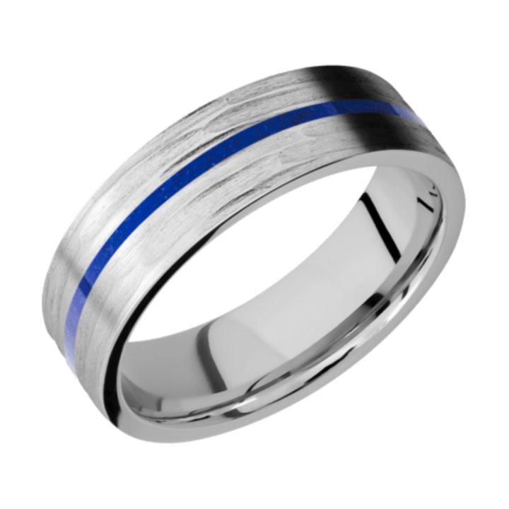 Blue & Tree Bark Finish Thin Blue Line Cobalt Chrome