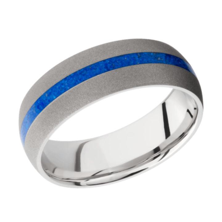 Lapis & Sand Finish Thin Blue Line Cobalt Chrome