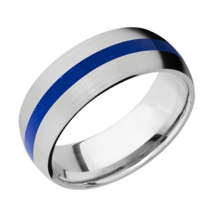 Lapis & Satin Finish Thin Blue Line Cobalt Chrome