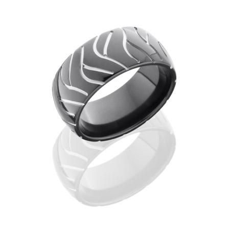 Super Cycle Black Zirconium Ring