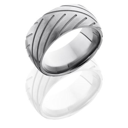 Super Cycle Tire Tread Titanium Wedding Ring