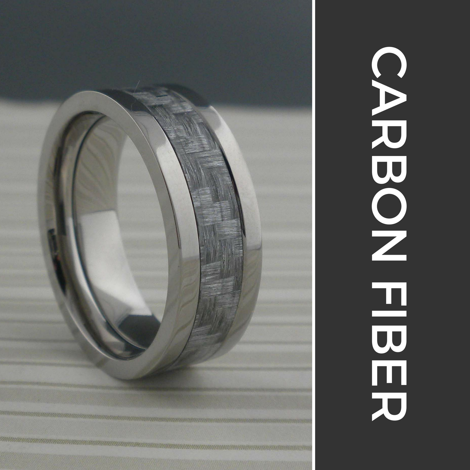 Carbon Fiber Wedding Rings