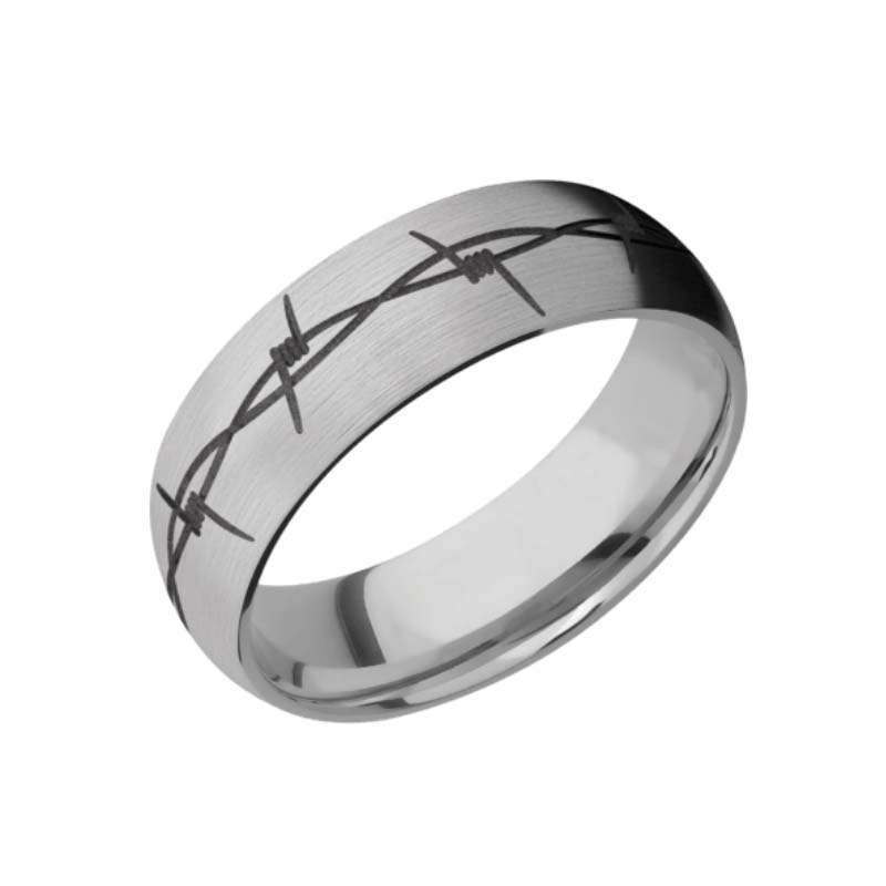 Barbed Wire with Gun Metal Gray Inlay
