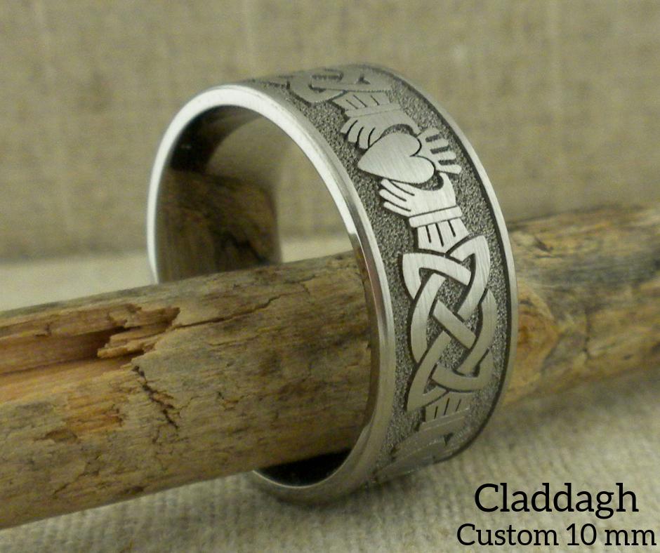 Celtic Claddagh Custom 10 mm wide
