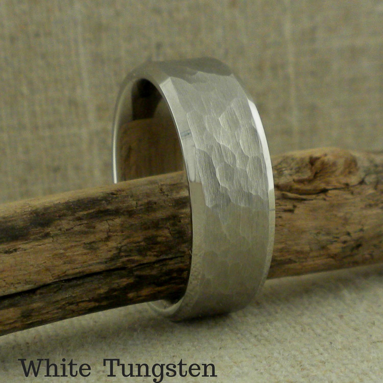 White Tungsten Wedding Ring by Thorsten Rings