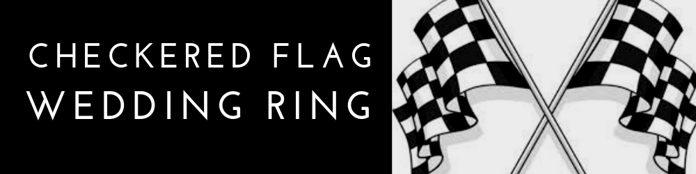 Checkered Flag Wedding Ring