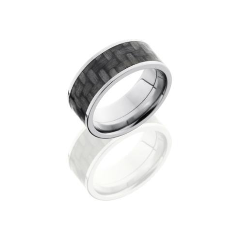 Wide Titanium & Carbon Fiber Ring