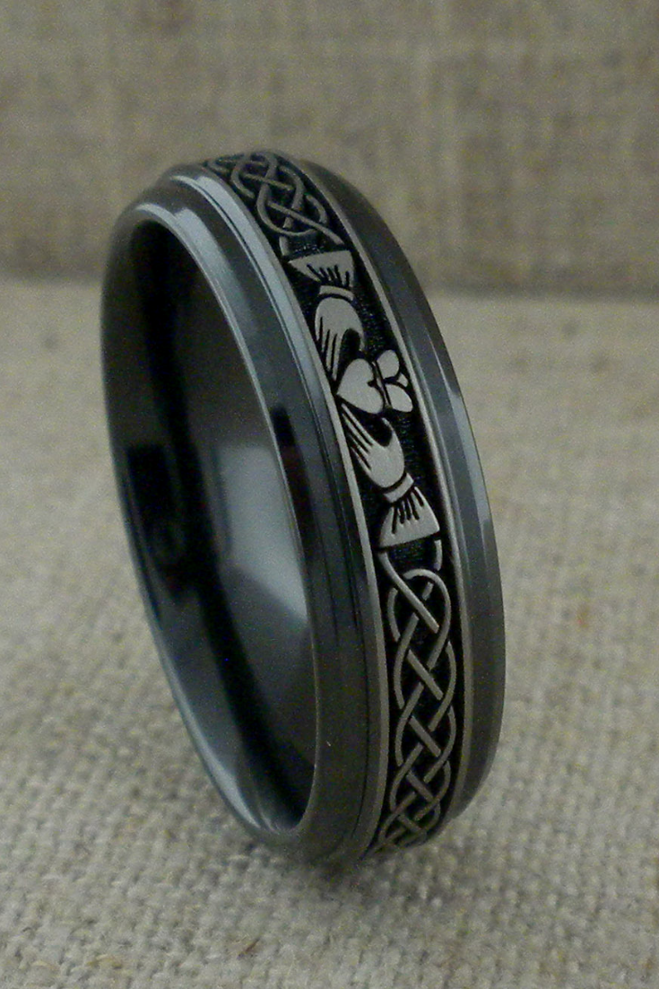Claddagh and Celtic Knot Wedding Ring