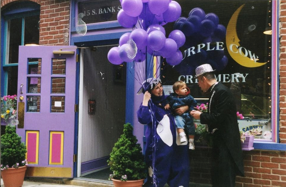 In the beginning and for many years we were The Purple Cow Creamery. Owned by proud ice cream entrepreneurs Marishka Titus Michener and Lynn Titus Wallen. The creamery was renowned in Easton, PA for it's 48 flavors of hand made goodness. The name changed to Bank Street Creamery in 2013.