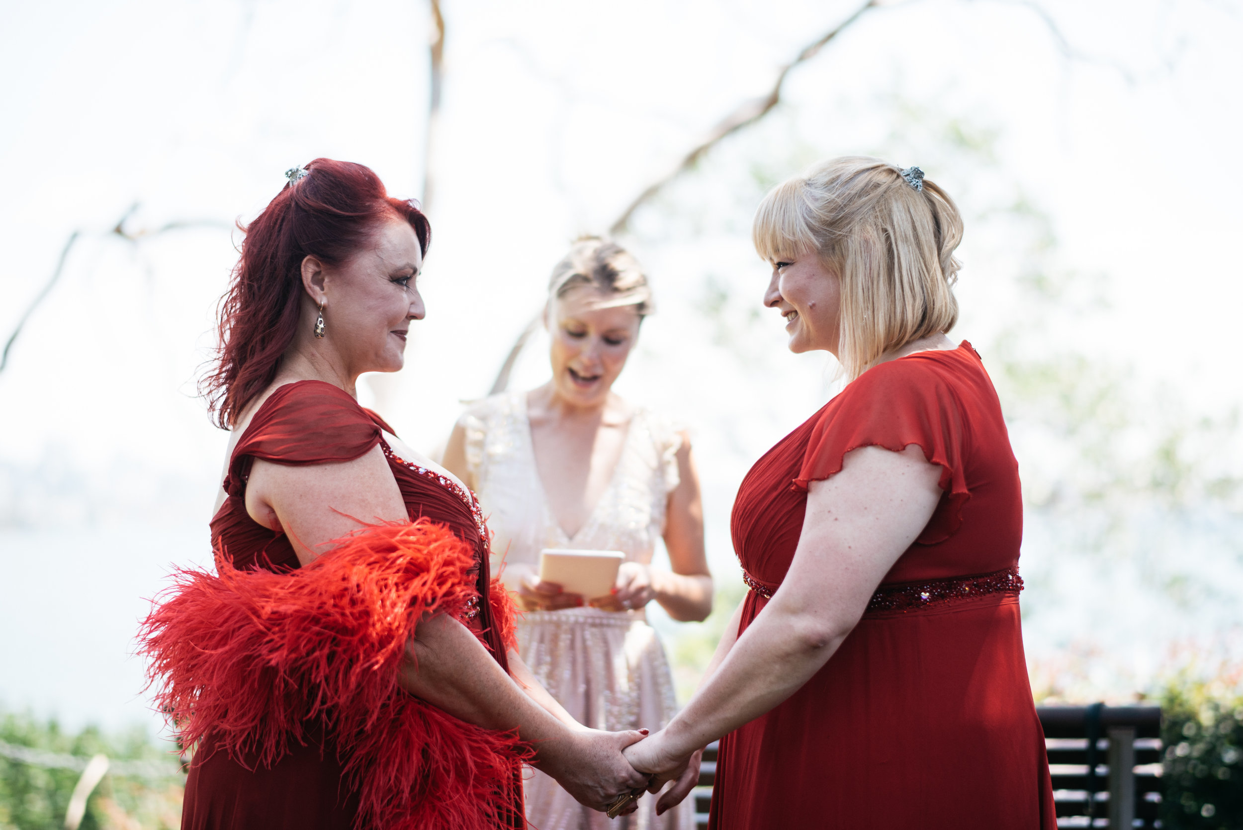 Marion & Camilla - You know we felt so good about this ceremony because we were in your hands. You truly saved the best for us. It was a magical ceremony and you rock at celebrating same sex love ❤️