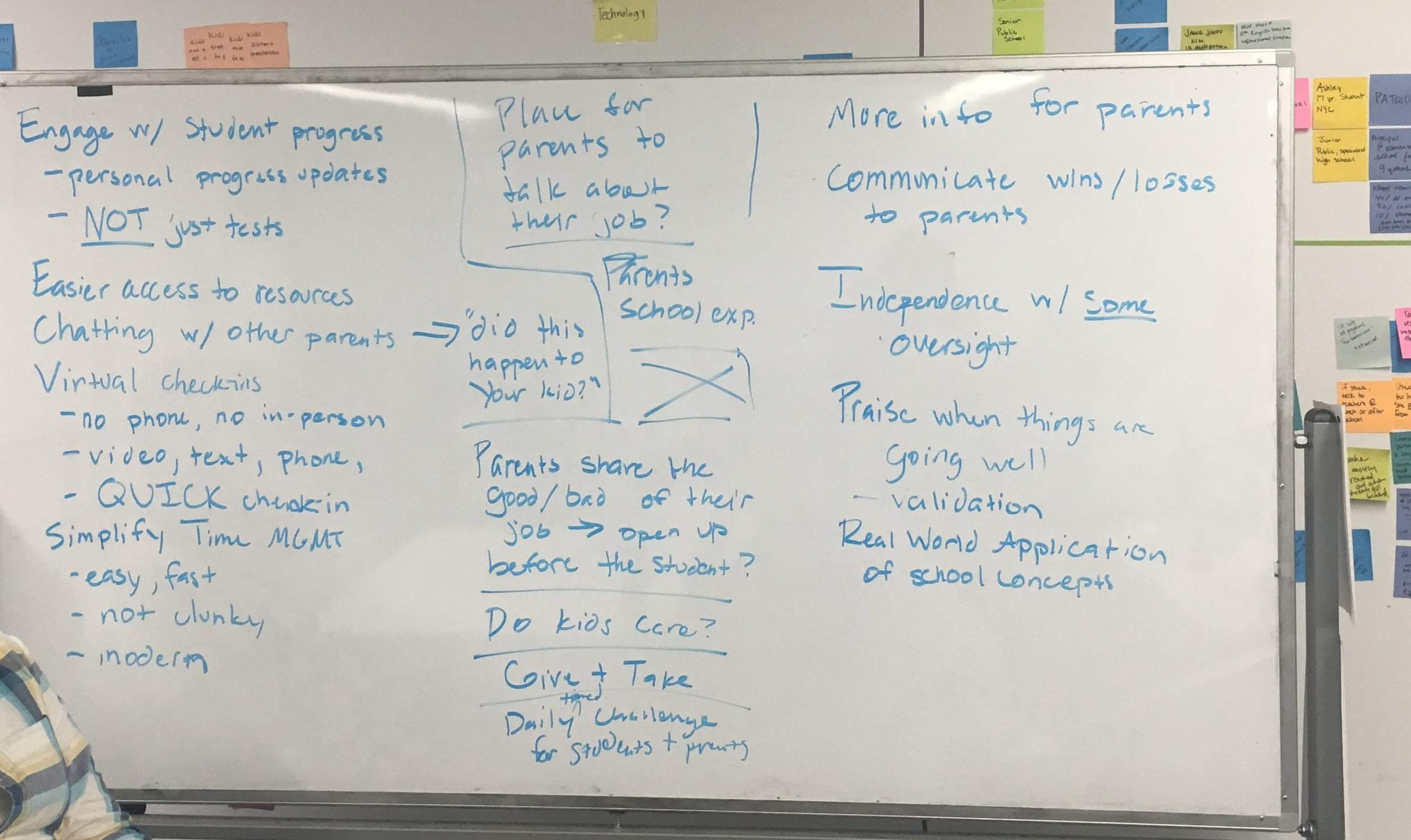 - We needed to figure out both good and bad ways to get the solution. We decided to do a few whiteboard exercises to discover directions for inspiration.